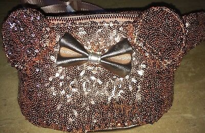 Disney Minnie Mouse Rose Gold Fanny Pack New In Hand With Tags