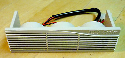 """3-Fan Antec Drive Bay COOLER for 5 1/4"""" Drive Bay - Excellent Condition"""