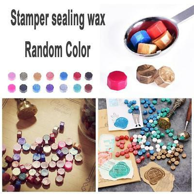 100pcs Octagonal Sealing Wax Beads Stamps Greeting Card Stamper Mixed Color