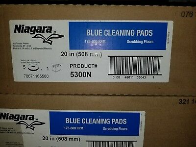 "20"" Niagara Blue Cleaning Pads, 5 Pack, 5300N, 175-600 RPM"