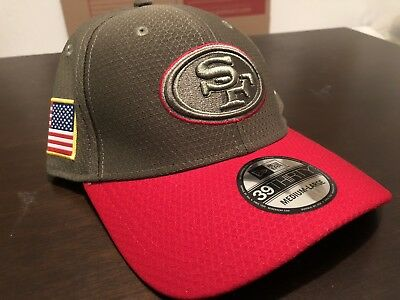 7d6f1beef ... promo code for san francisco 49ers nfl new era 39thirty salute to  service sideline hat s m