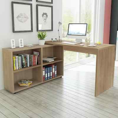 Home Office Corner Desk Computer PC Writing Table WorkStation Wooden Furniture