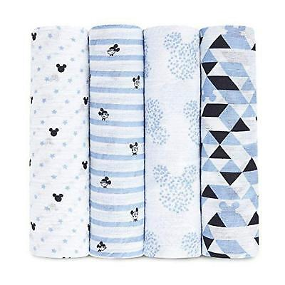 aden by aden + anais Disney Baby Swaddles, 4 Pack (Graphic Mickey) Free Shipping