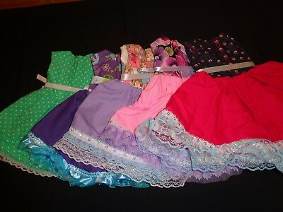 doll dress for 18 inch american girl lot of 5 assorted handmade lace ribbon 258