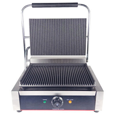 Electric Griddle Contact Grill Panini Press Toastie Maker BBQ Grill Commercial