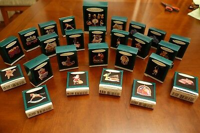 12 Hallmark Tiny Miniatures Christmas Ornaments NEW Vintage Perfect Boxes