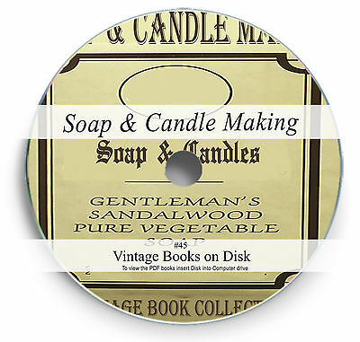 Soap Candle Making Rare Books on DVD Learn How Mould Wax Oil Kit Base Scent 45