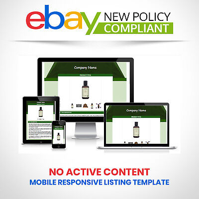 Ebay Template Responsive Professional Listing Design Auction Html Mobile 2019