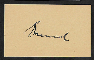 Mick Mannock WWI Air Ace Autograph Reprint On Original WWI Period 3x5 Card
