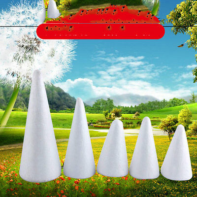 10PCS/Lot 150Mm Foam Ball White Cone For DIY Christmas Party Decoration Supplies