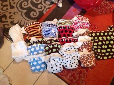 Bulk Lot 20 Couture Cushie Tushies Modern Cloth Nappies With Boosters & Inserts
