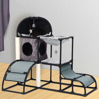 AU Pet Cat Tree Play House Condo Bed Furniture Scratching Scratcher Pole Gym Toy