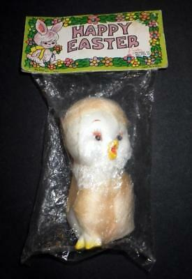 NIP Vintage HAPPY EASTER Unlimited Vinyl CHICK SQUEAK TOY 1960's 1970's Korea