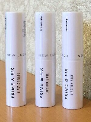 3 ❎ New Look Prime & Fix Lipstick Base - Clear - Brand New & Sealed - Rrp £12