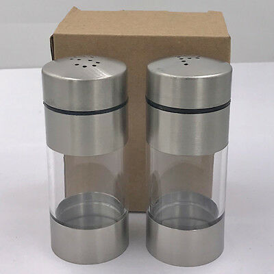 Salt and Pepper Shaker Set of 2 with 304 Stainless Steel Classic Shakers