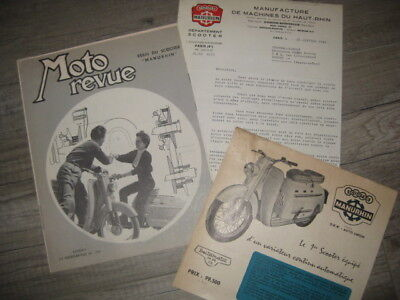 LOT DE DOCUMENTs  PUBLICITAIRE scooter MANURHIN BELTOMATIC MR75