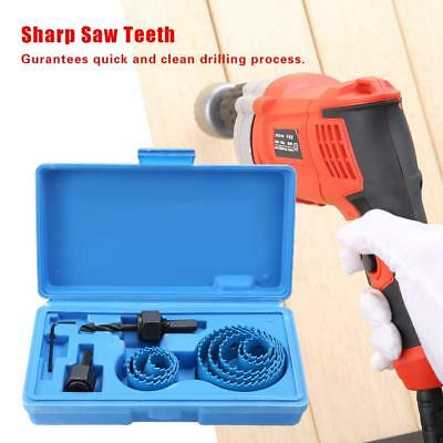 19-64mm Hole Saw Cutter Set Circular Drill Bits Hole Saw for Woodworking Blue