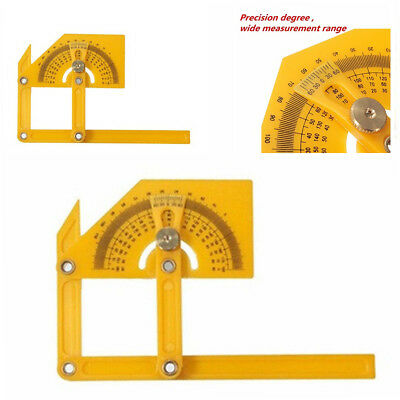Angle Finder Protractor Goniometer Miter Gauge Plastic Brass Fittings Tools,UK