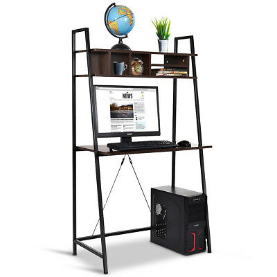 Computer Desk Bookshelf Stand Home Office Work Station MDF Laptop PC Table Shelf