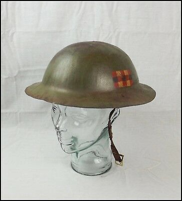 WW1 Scottish Home Guard Brodie Helmet