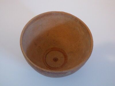 Rare Greek Hellenistic painted pottery bowl with 3 shell feet. 3rd-1st cent BC