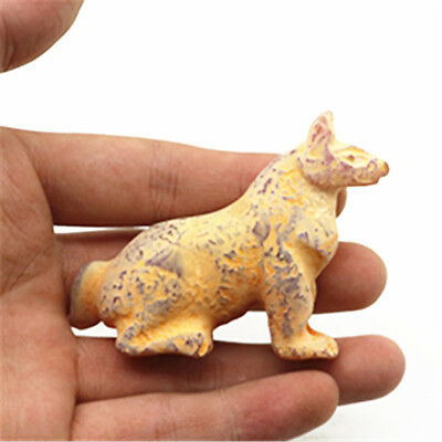 chinese hongshan culture jade hand carved exquisite leopard statues pendant Y536