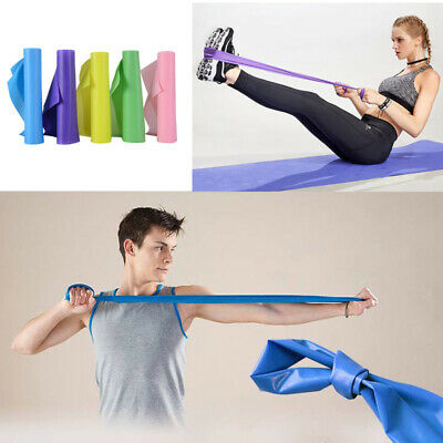 UK Elastic Resistance Bands Exercise Gym NHS Pilates Stretch Strap Fitness Tape
