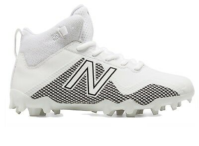 NEW New Balance Boys Freeze LX JR Lacrosse Shoes White Black 2w Wide US Football