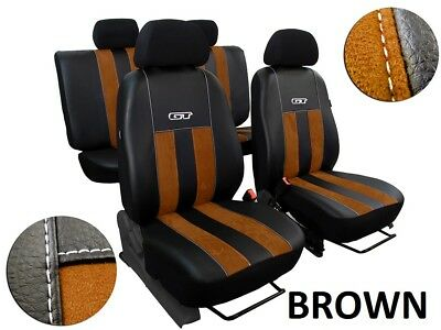 Ford Ranger Wildtrak Mk5 2012-2015 Eco Leather & Alicante Tailored Seat Covers