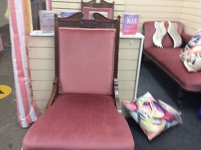 Antique Chaise with both ladies and gentleman chairs, very rare