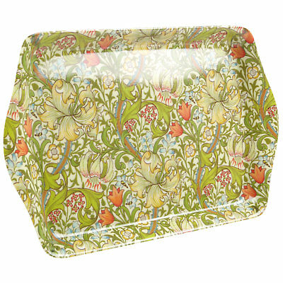 New Golden Lily Design By William Morris Mini Small Serving Tray Snack Supper