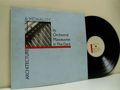 ORCHESTRAL MANOEUVRES IN THE DARK (OMD) architecture & morality LP VG/VG DID 12