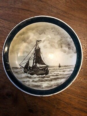 Antique 1880 ROZENBURG THE HAGUE  liltte plate with typical dutch scene