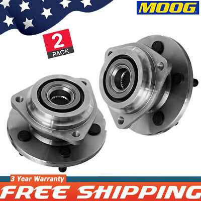 2 Moog 513084 Front Wheel Hub Bearing For Jeep Cherokee Comanche Wrangler 4WD A