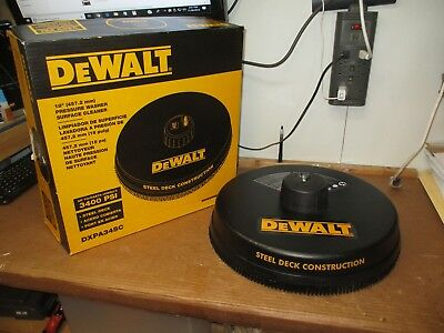 """Dewalt Dxpa34Sc 18"""" 3400 Psi Pressure Washer Surface Cleaner New In Open Box"""