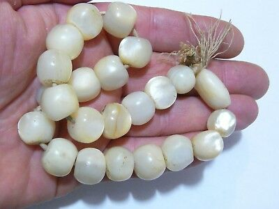 Antique Prayer Beads,Antique Mother of Pearl Beads, 93 grams, Large Rosary Beads