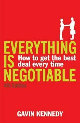 NEW Everything is Negotiable By Gavin Kennedy Paperback Free Shipping
