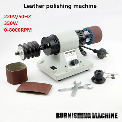 Leather Polishing Burnishing Machine Leather Edge Grinding Machine Tool Kit 220V