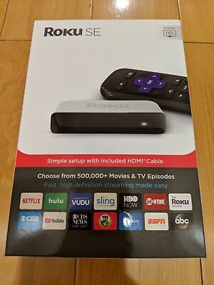 Roku SE 3900SE HD Streaming Player w/ Remote - HDMI Cable Included - New Sealed