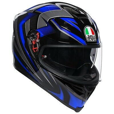 Casco Integrale Agv K-5 S - Hurricane 2.0 Black - Blue Taglia L