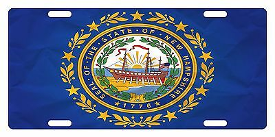NEW HAMPSHIRE State Flag  Custom License Plate State Emblem Paper Version