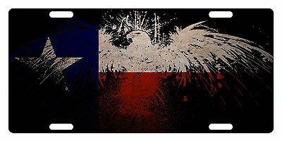 TEXAS STATE Flag Custom License Plate AMERICAN Emblem EAGLE Version