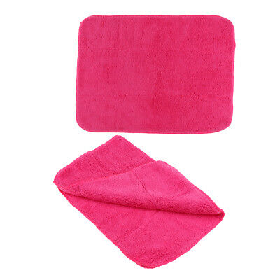 2pcs Multi-functional Ice Figure Skate Covers Cleaning Cloth Towel Pink