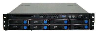 2U Rackmount Server Case with 8 Hot-Swappable SATA 6Gb/s Drive Bays, with 650W