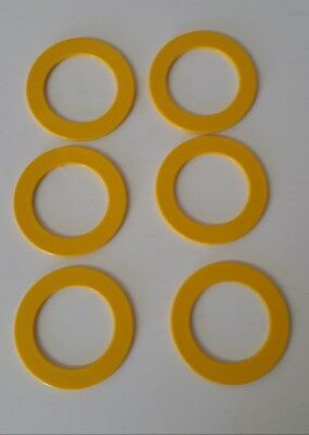 12-pack Solid YELLOW Plastic Carnival Game Soda Bottle Toss Rings (Made in USA)