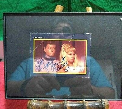Star Trek Tos Grace Lee Whitney As Ensign Rand Authentic Autographed Card Photo
