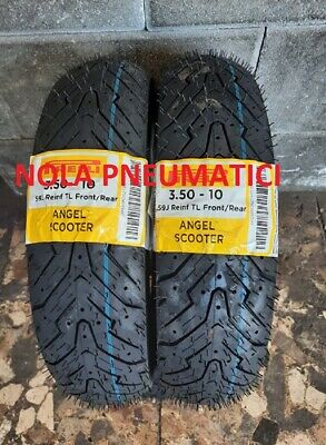Coppia 3.50-10 59J PIRELLI ANGEL SCOOTER per VESPA PX LML DOT2018/2019