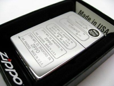 Zippo Full Size High Polish Chrome Bottom Stamps Classic Windproof Lighter 28381