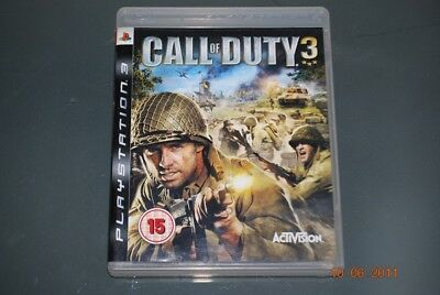 Call of Duty 3 PS3 Playstation 3 **FREE UK POSTAGE**