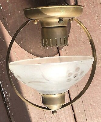 2 Piece Antique Small Bronze Ceiling Latern Light